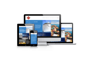 Webdesign for shipping and logistics company