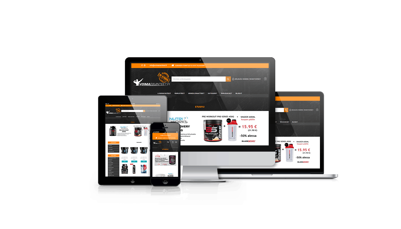 E-commerce website for sport nutrition products