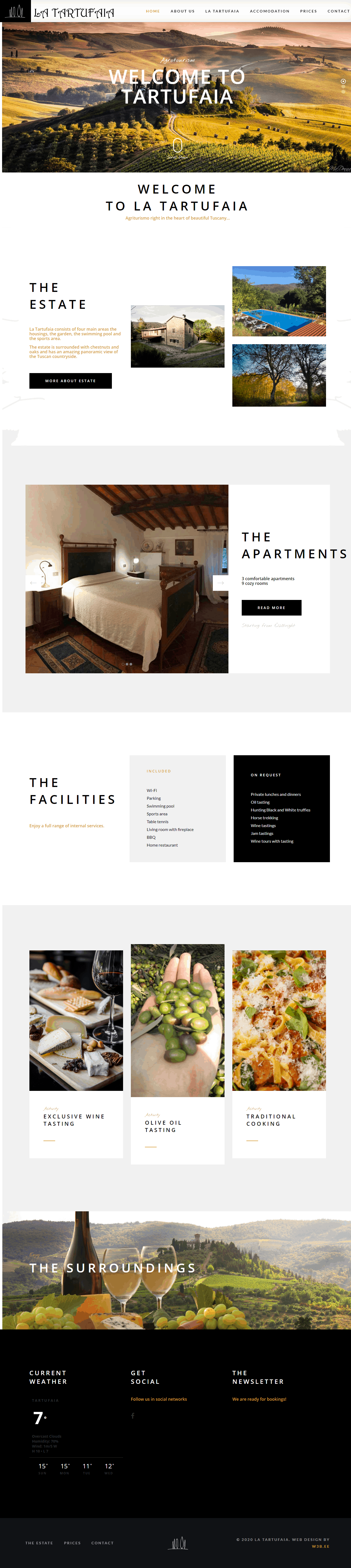 tartufaia website screen shot